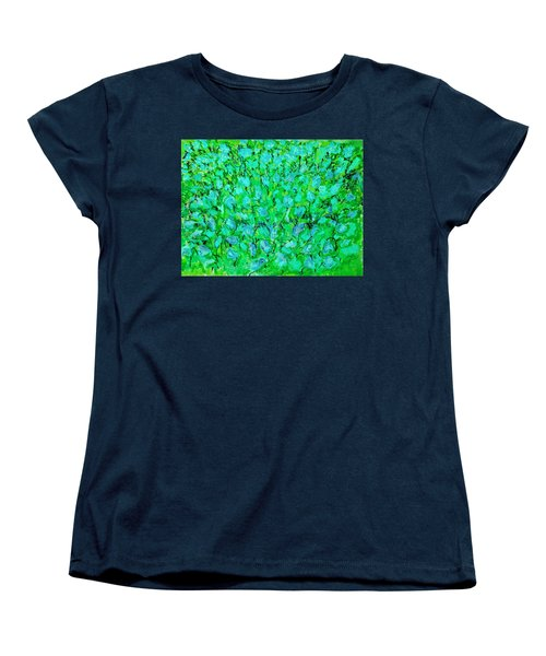 Women's T-Shirt (Standard Cut) featuring the painting Meadow Flowers by Linde Townsend