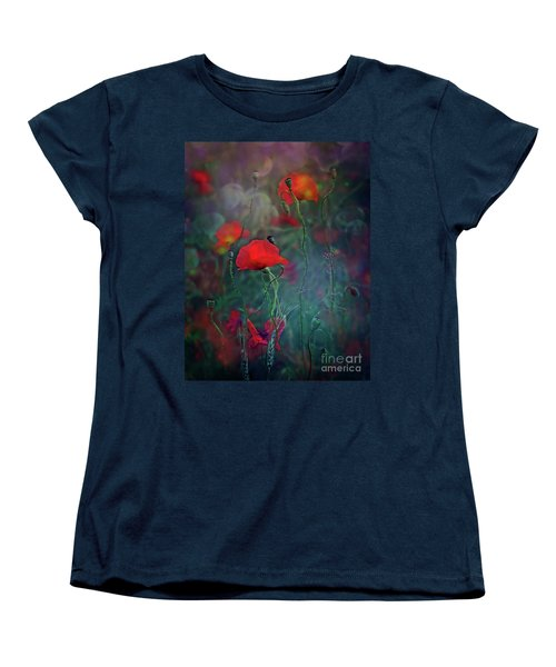 Meadow In Another Dimension Women's T-Shirt (Standard Cut) by Agnieszka Mlicka