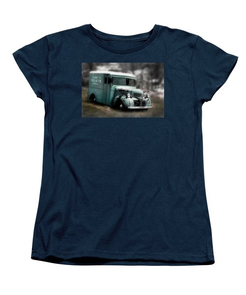 Women's T-Shirt (Standard Cut) featuring the painting Meat Truck by Gray  Artus