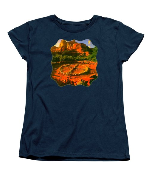 Medicine Wheel Women's T-Shirt (Standard Cut) by Raven SiJohn