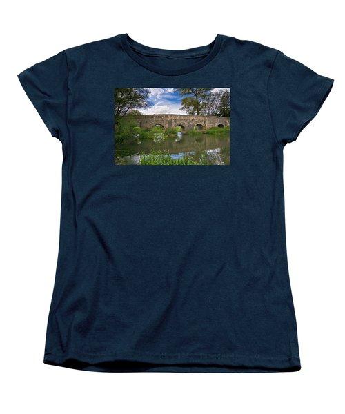 Medieval Bridge Women's T-Shirt (Standard Cut) by Scott Carruthers