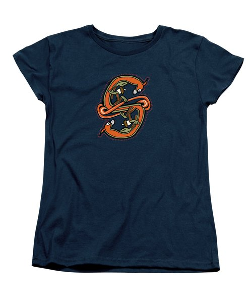 Medieval Squirrel Letter S Women's T-Shirt (Standard Cut) by Donna Huntriss