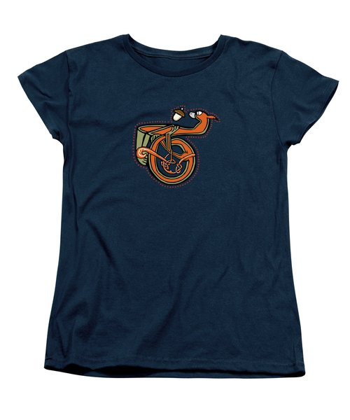 Women's T-Shirt (Standard Cut) featuring the digital art Medieval Squirrel Letter T by Donna Huntriss