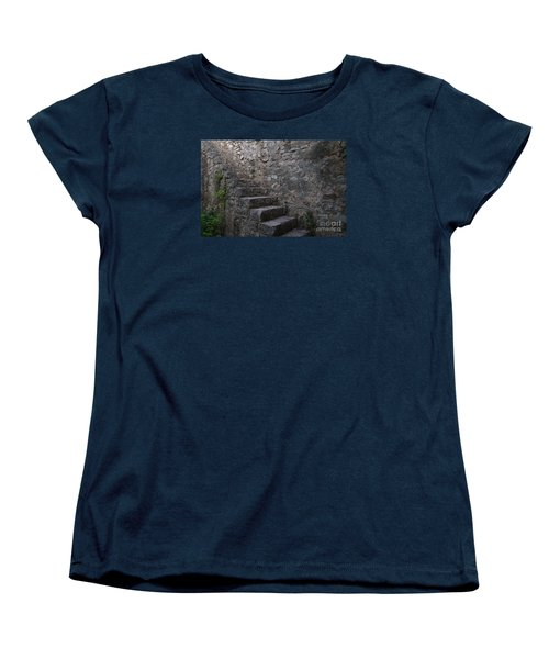 Medieval Wall Staircase Women's T-Shirt (Standard Cut) by Angelo DeVal
