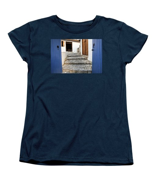 Mediteranean Old House Women's T-Shirt (Standard Cut) by Mike Santis