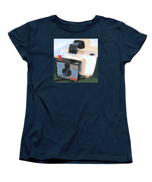 Women's T-Shirt (Standard Cut) featuring the painting Meet The Swinger by Lynne Reichhart