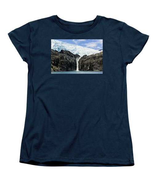 Meltwater From The Northland Glacier Women's T-Shirt (Standard Cut) by Ray Bulson