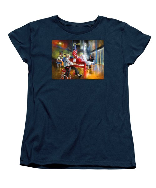 Memphis Nights 04 Women's T-Shirt (Standard Cut) by Miki De Goodaboom