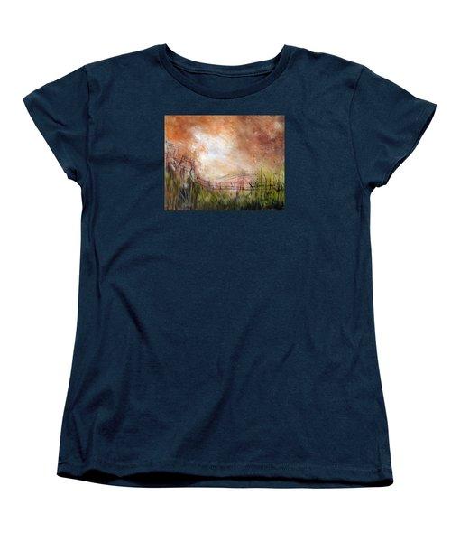 Mending Fences Women's T-Shirt (Standard Cut) by Roberta Rotunda