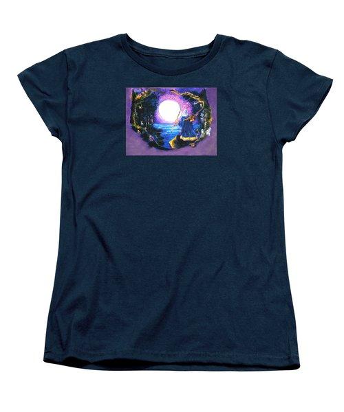 Merlin's Moon Women's T-Shirt (Standard Cut) by Seth Weaver