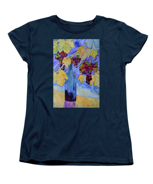 Women's T-Shirt (Standard Cut) featuring the painting Merlot by Nancy Jolley