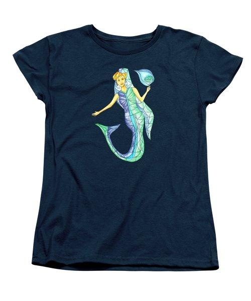 Mermaid Stories B Women's T-Shirt (Standard Cut) by Thecla Correya
