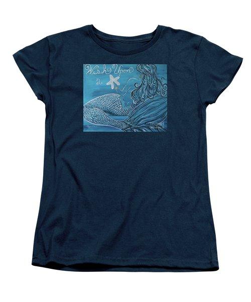 Mermaid- Wish Upon A Starfish Women's T-Shirt (Standard Fit)