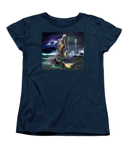 Mermaids Moon Light Women's T-Shirt (Standard Cut) by Glenn Feron