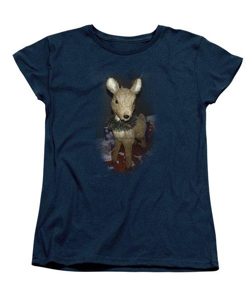 Merry Christmas Deer Women's T-Shirt (Standard Cut)
