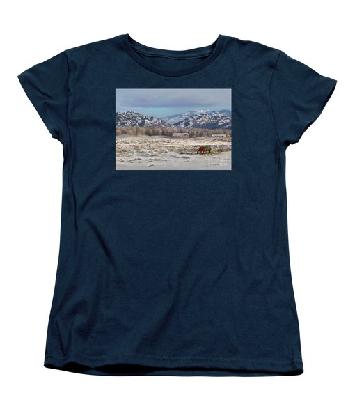 Merry Christmas From Wyoming Women's T-Shirt (Standard Cut) by Dawn Senior-Trask
