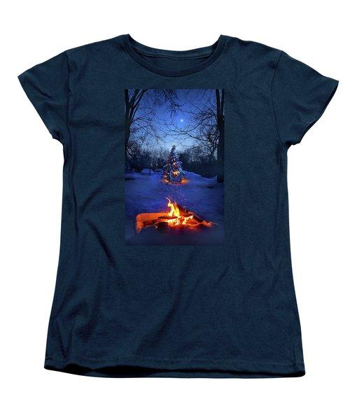 Women's T-Shirt (Standard Cut) featuring the photograph Merry Christmas by Phil Koch