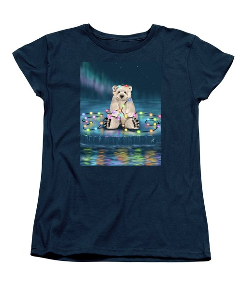 Women's T-Shirt (Standard Cut) featuring the painting Merry Christmas  by Veronica Minozzi