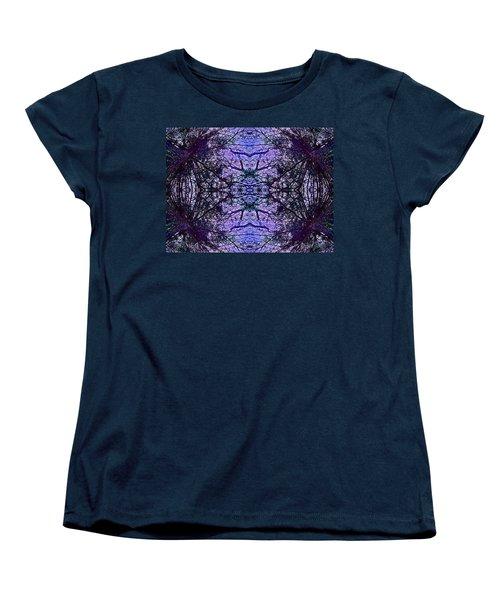 Mesmerized By Blue Women's T-Shirt (Standard Cut) by Joy Nichols