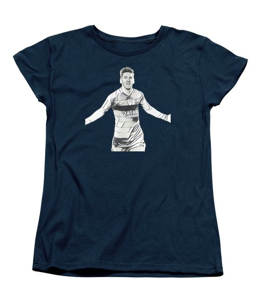 Messi Women's T-Shirt (Standard Cut) by Vincenzo Basile