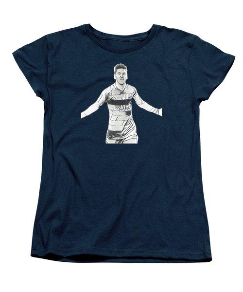 Messi Women's T-Shirt (Standard Cut) by Vincenzo Basile
