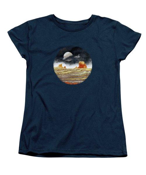 Metallic Desert Women's T-Shirt (Standard Cut) by Spacefrog Designs