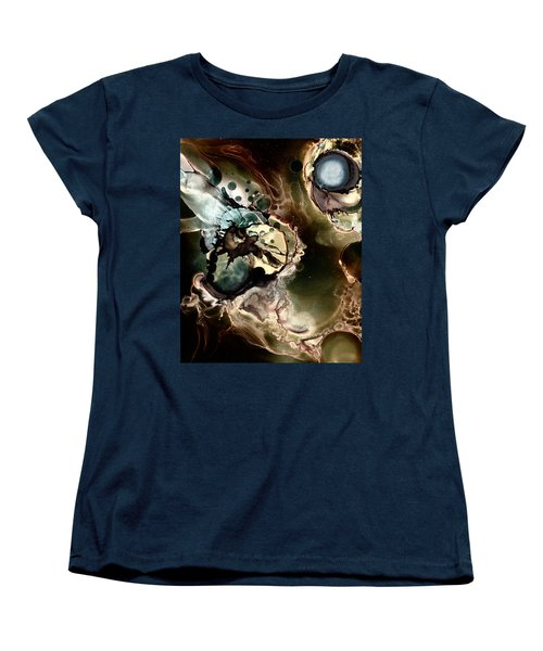 Women's T-Shirt (Standard Cut) featuring the painting Metallic Nebula by Patricia Lintner