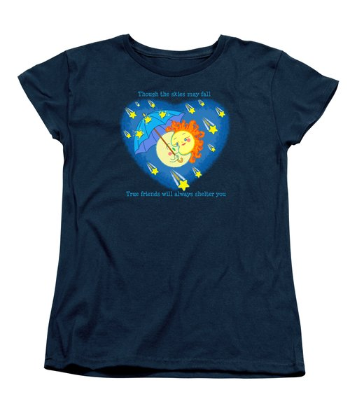 Women's T-Shirt (Standard Cut) featuring the digital art Meteor Shower 3 by J L Meadows