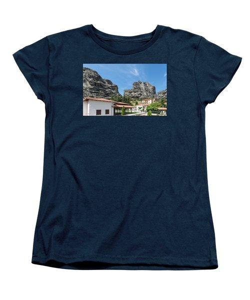 Meteora In Greece Women's T-Shirt (Standard Cut) by Arik Baltinester