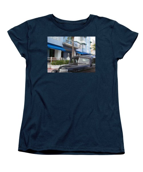 Women's T-Shirt (Standard Cut) featuring the photograph Miami Beach by Mary-Lee Sanders