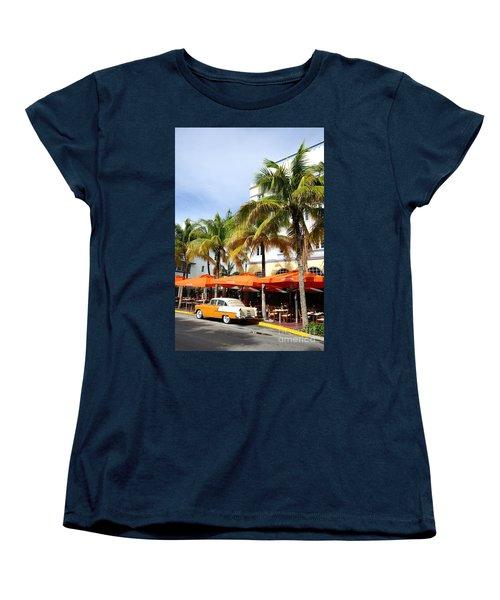 Miami South Beach Ocean Drive 8 Women's T-Shirt (Standard Cut) by Nina Prommer