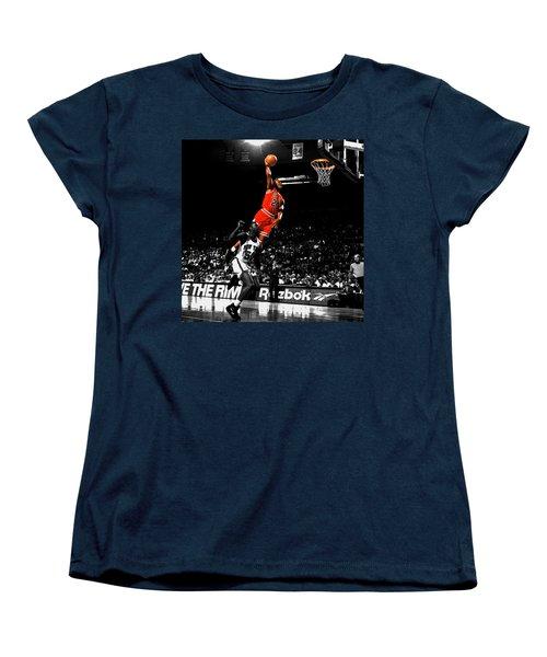 Michael Jordan Suspended In Air Women's T-Shirt (Standard Cut) by Brian Reaves