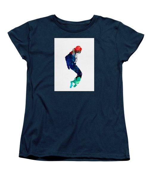 Michael Watercolor Women's T-Shirt (Standard Cut) by Naxart Studio