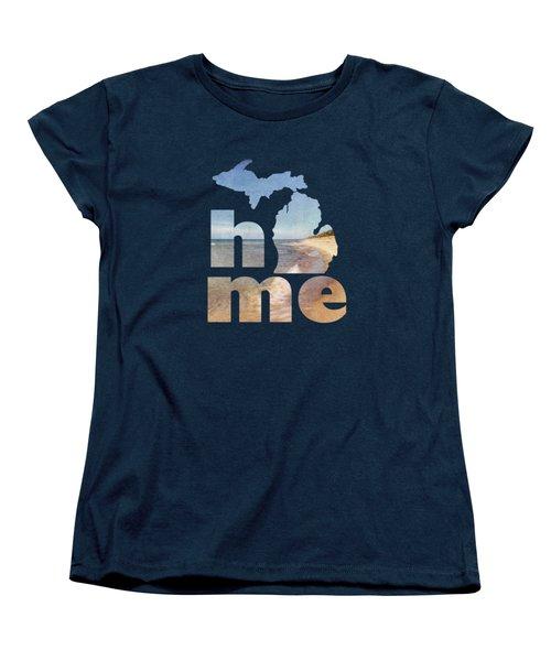 Michigan Home Women's T-Shirt (Standard Cut) by Emily Kay