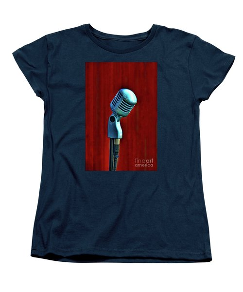 Microphone Women's T-Shirt (Standard Cut) by Jill Battaglia