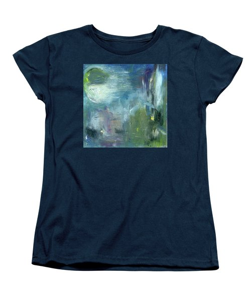 Women's T-Shirt (Standard Cut) featuring the painting Mid-day Reflection by Michal Mitak Mahgerefteh