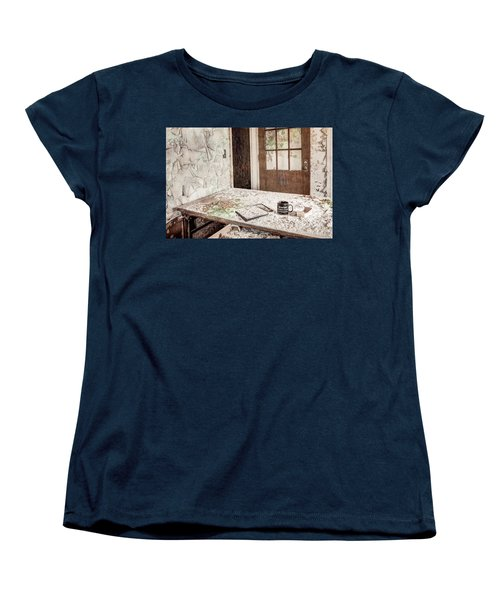 Women's T-Shirt (Standard Cut) featuring the photograph Midlife Crisis In Progress - Abandoned Asylum by Gary Heller