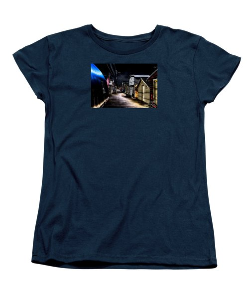 Midnight At The Boathouse Women's T-Shirt (Standard Cut) by William Norton