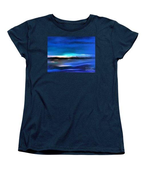 Midnight Blue Women's T-Shirt (Standard Cut) by Yul Olaivar