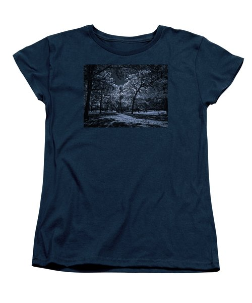 Women's T-Shirt (Standard Cut) featuring the photograph Midnight Blues by Linda Unger