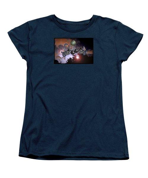 Midnight Rider Women's T-Shirt (Standard Cut) by Amanda Vouglas