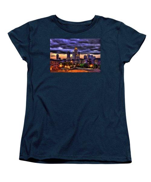 Midtown Atlanta Towers Over Atlantic Commons Women's T-Shirt (Standard Cut) by Reid Callaway