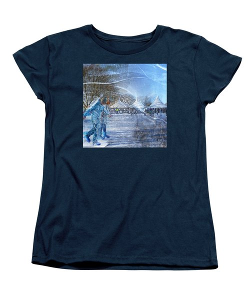 Women's T-Shirt (Standard Cut) featuring the photograph Midwinter Blues by LemonArt Photography