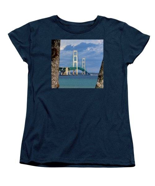 Mighty Mac Framed By Trees Women's T-Shirt (Standard Cut) by Keith Stokes
