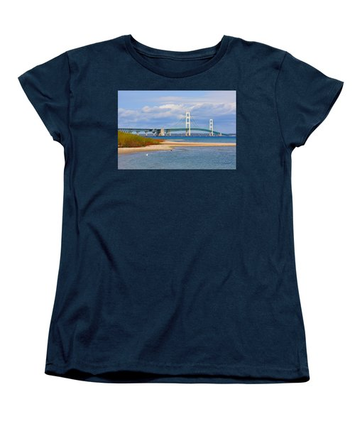 Mighty Mac In October Women's T-Shirt (Standard Cut) by Keith Stokes