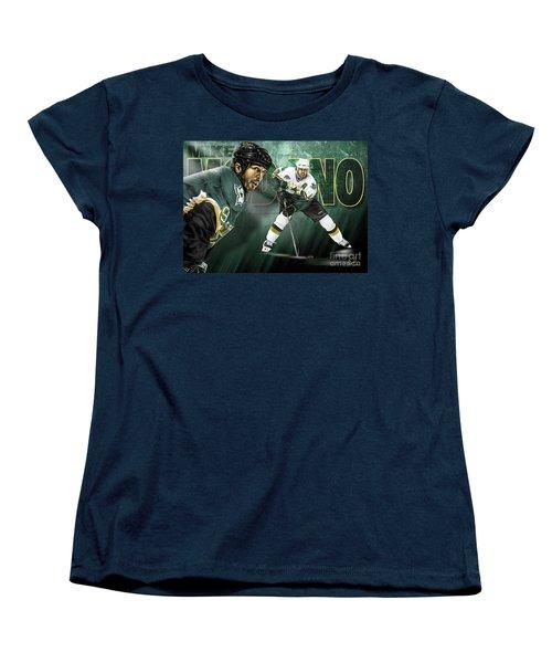 Mike Modano Women's T-Shirt (Standard Cut) by Don Olea
