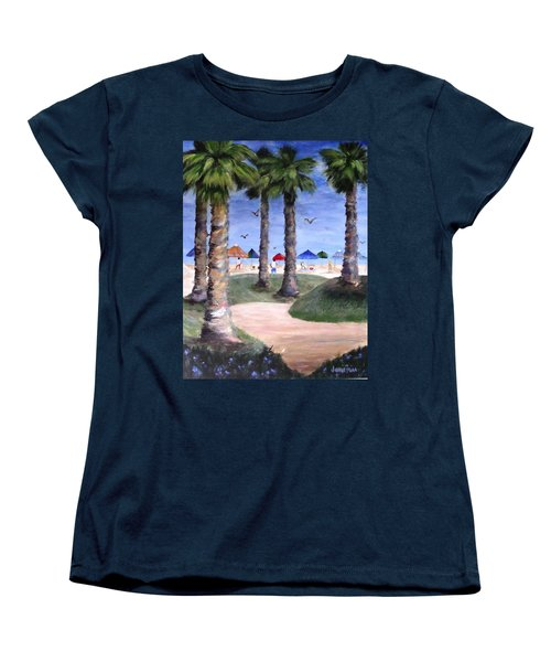 Mike's Hermosa Beach Women's T-Shirt (Standard Cut) by Jamie Frier