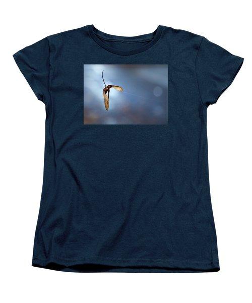 Miksang 3 Maple Seeds Women's T-Shirt (Standard Cut) by Theresa Tahara