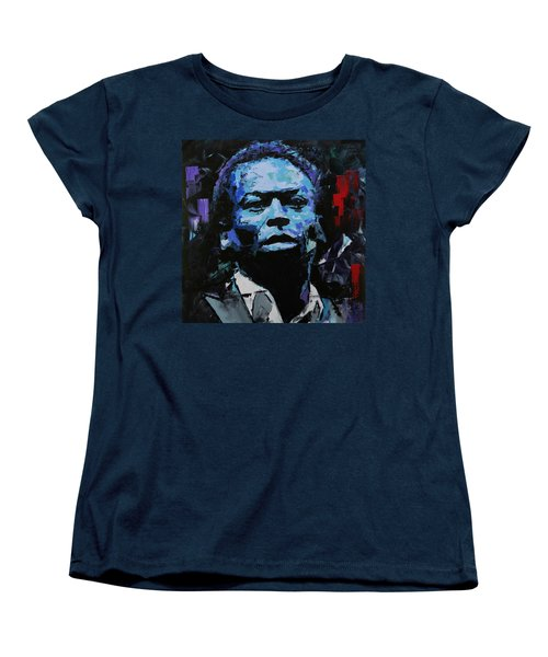 Women's T-Shirt (Standard Cut) featuring the painting Miles Davis by Richard Day