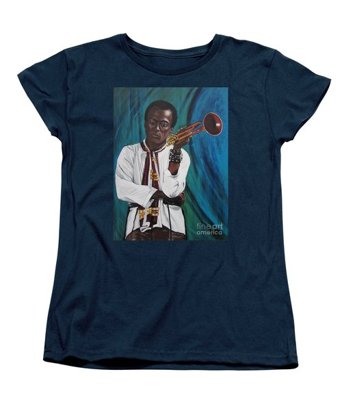 Miles-in A Really Cool White Shirt Women's T-Shirt (Standard Cut) by Sigrid Tune